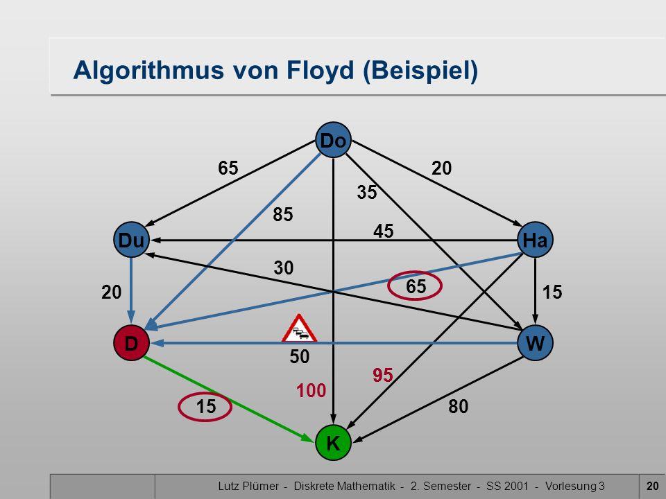 Algorithmus von Floyd (Beispiel)