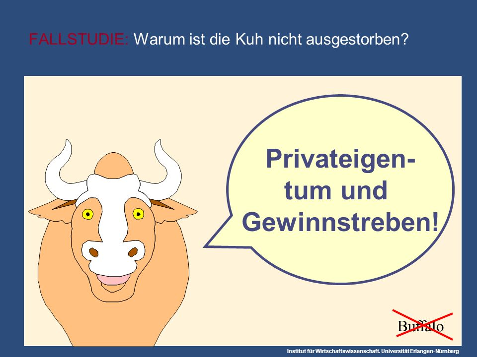 FALLSTUDIE: Warum ist die Kuh nicht ausgestorben