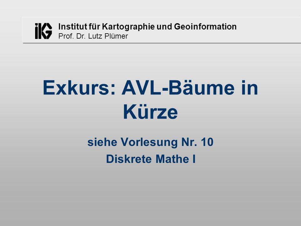 Exkurs: AVL-Bäume in Kürze