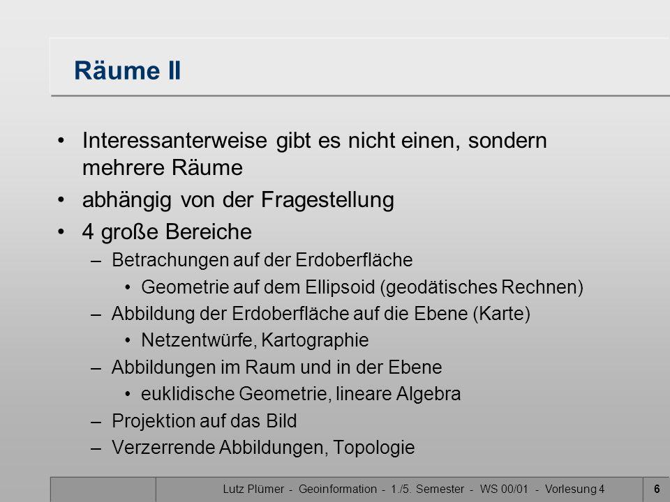 Lutz Plümer - Geoinformation - 1./5. Semester - WS 00/01 - Vorlesung 4
