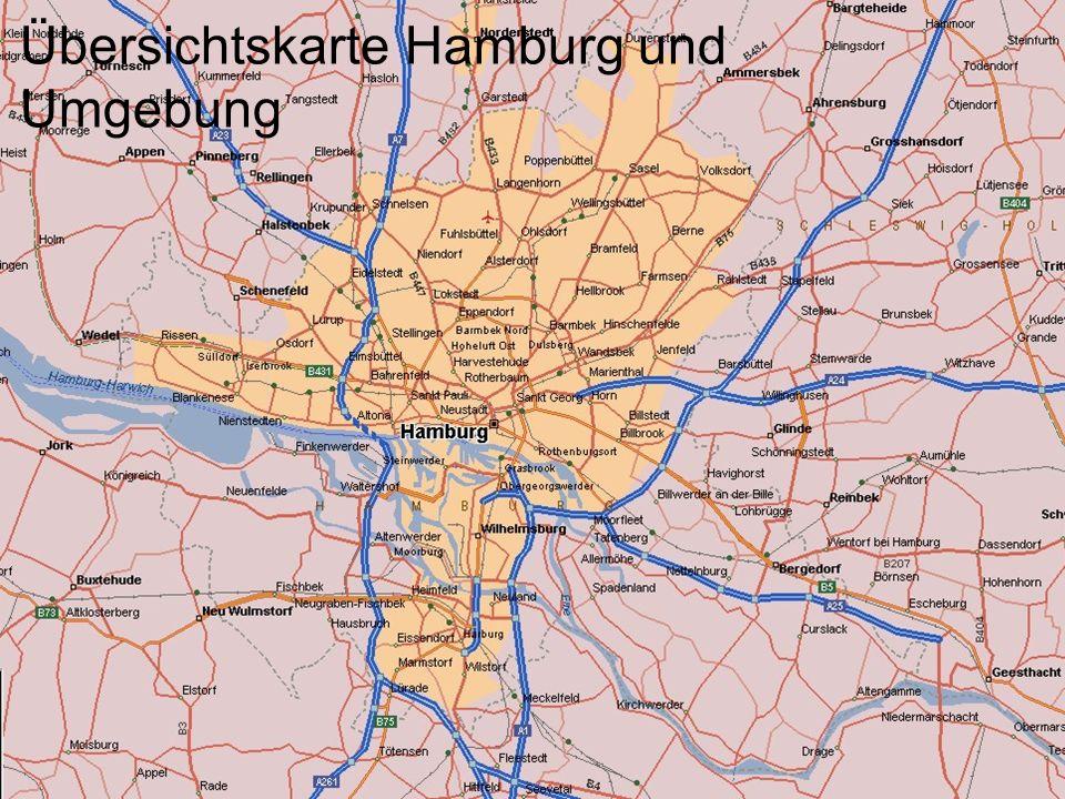 Übersichtskarte Hamburg und Umgebung