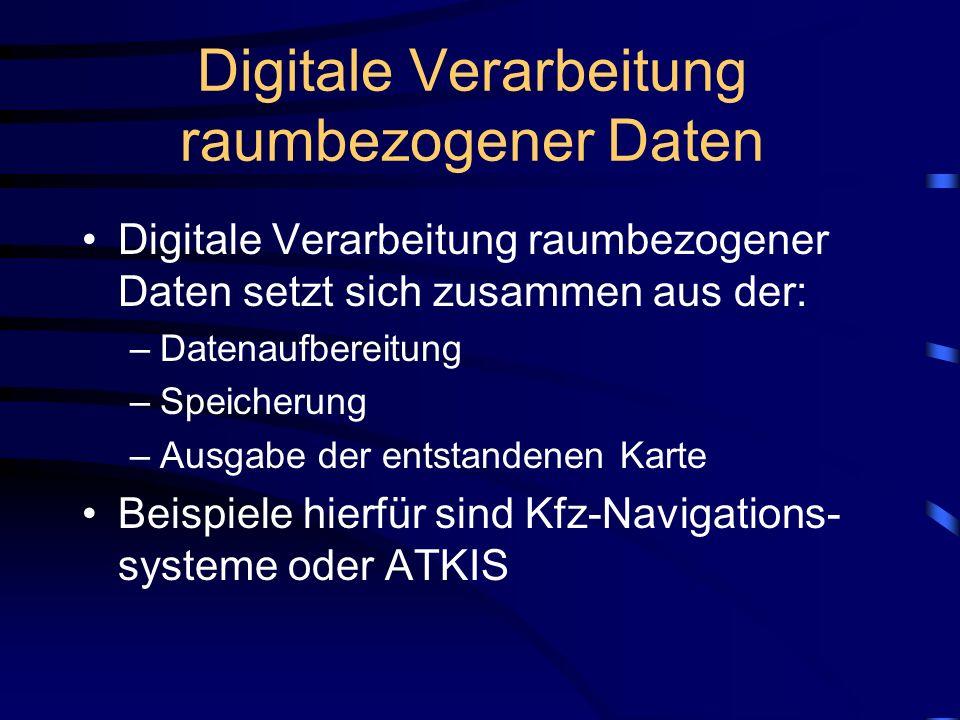 Digitale Verarbeitung raumbezogener Daten
