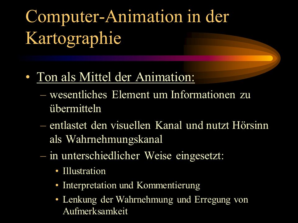 Computer-Animation in der Kartographie