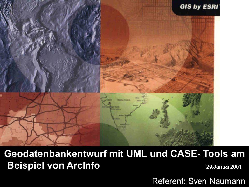 jh sdfg. Geodatenbankentwurf mit UML und CASE- Tools am Beispiel von ArcInfo 29.Januar 2001. b Referent: Sven Naumann.