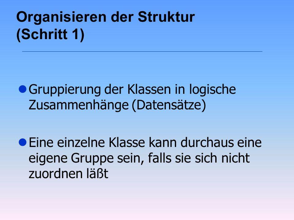 Organisieren der Struktur (Schritt 1)