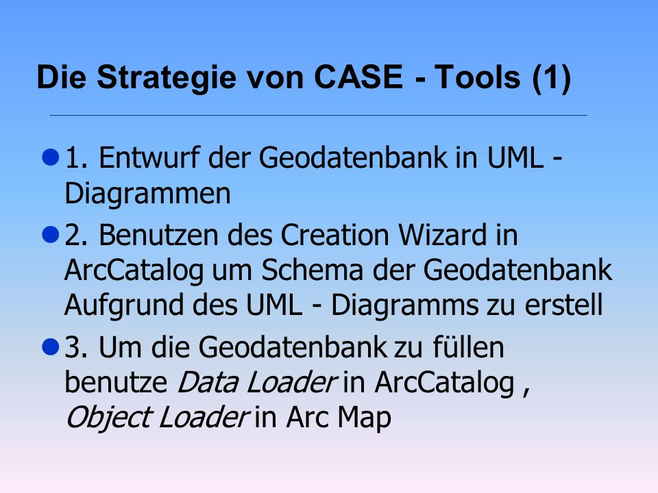 Die Strategie von CASE - Tools (1)