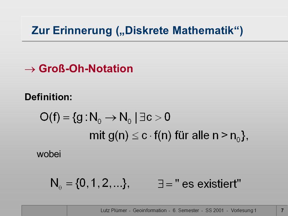 """Zur Erinnerung (""""Diskrete Mathematik )"""