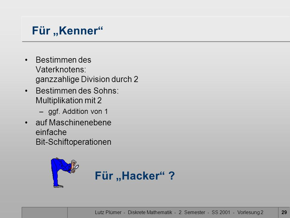"""Für """"Kenner Für """"Hacker"""