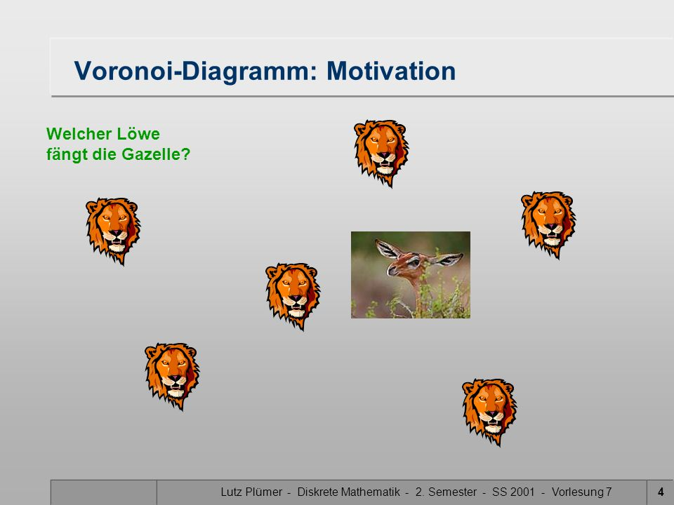 Voronoi-Diagramm: Motivation