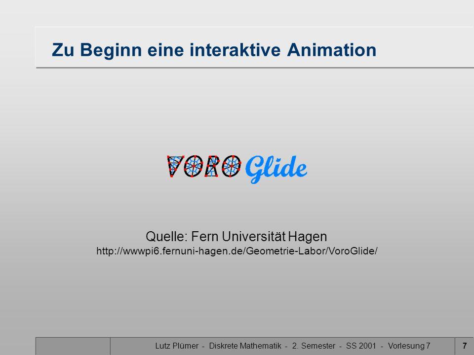 Zu Beginn eine interaktive Animation