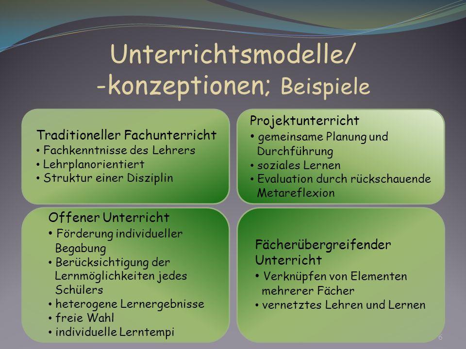 -konzeptionen; Beispiele