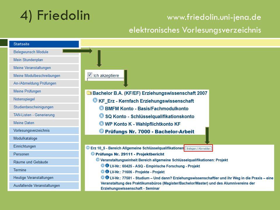 4) Friedolin www. friedolin. uni-jena