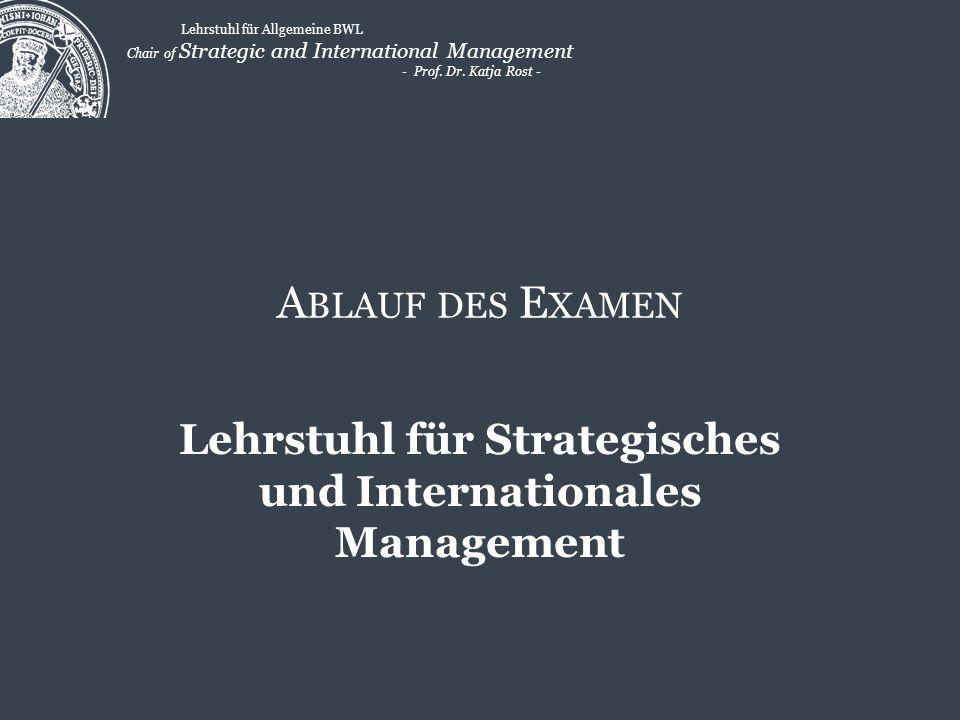Lehrstuhl für Strategisches und Internationales Management