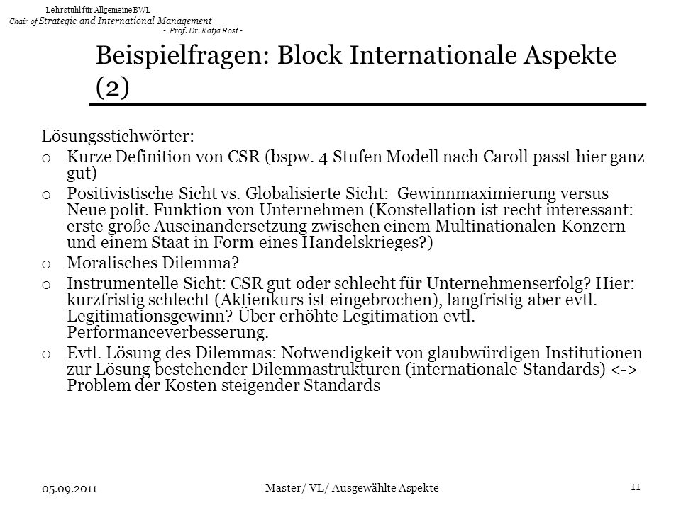 Beispielfragen: Block Internationale Aspekte (2)
