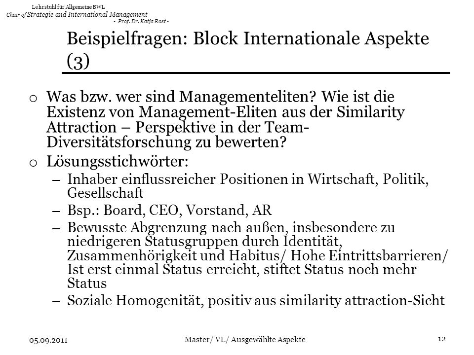 Beispielfragen: Block Internationale Aspekte (3)