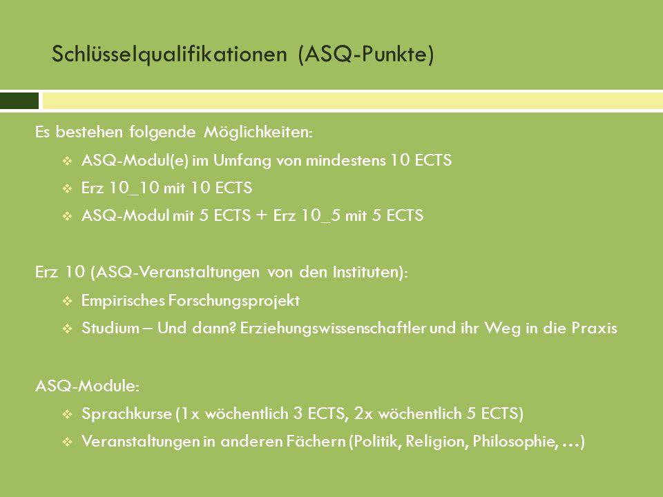 Schlüsselqualifikationen (ASQ-Punkte)