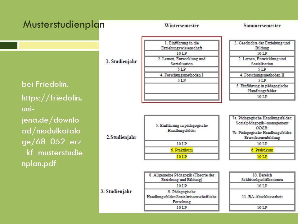 Musterstudienplan bei Friedolin: https://friedolin.