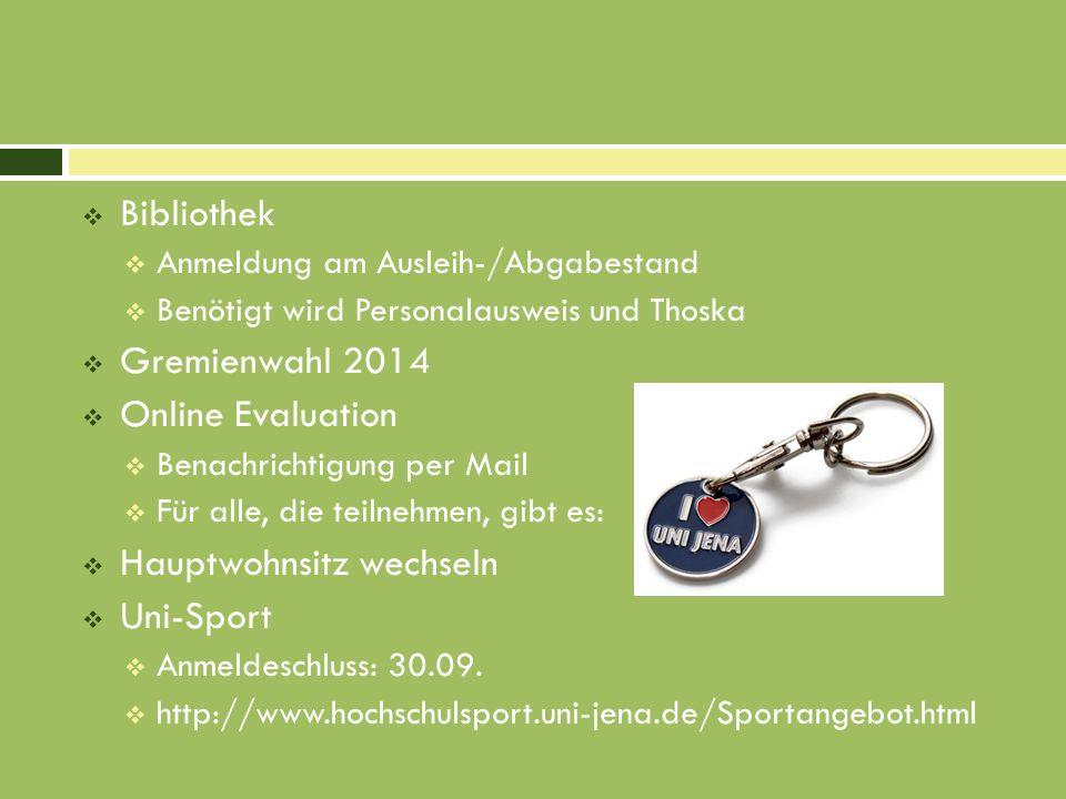 Hauptwohnsitz wechseln Uni-Sport