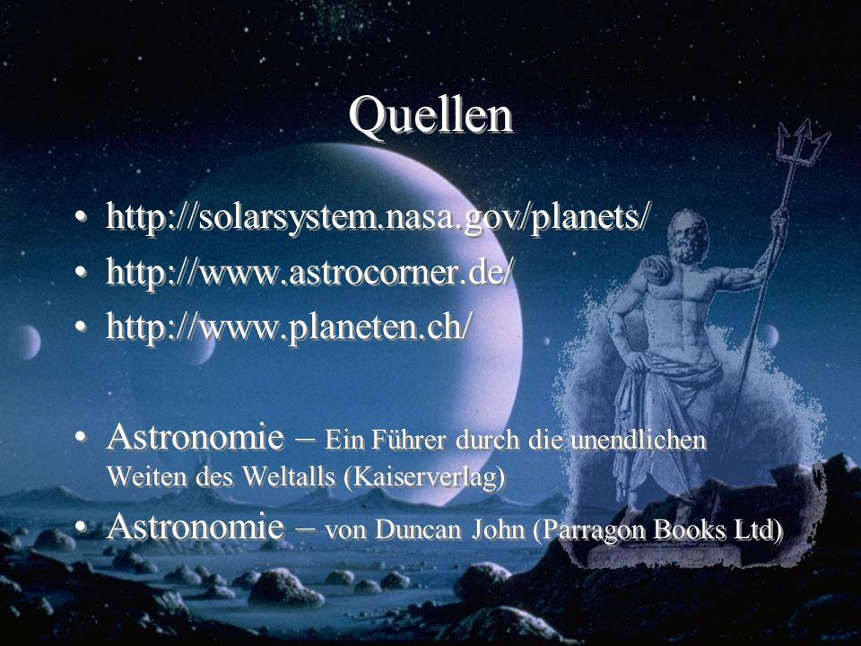 Quellen http://solarsystem.nasa.gov/planets/