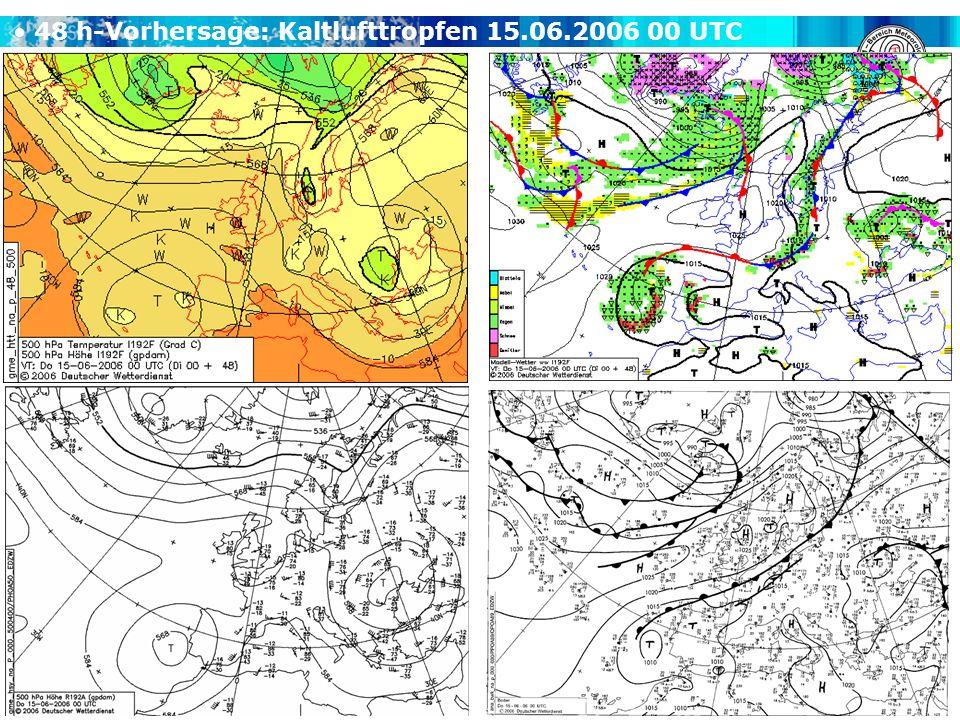 48 h-Vorhersage: Kaltlufttropfen 15.06.2006 00 UTC