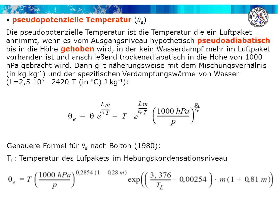 pseudopotenzielle Temperatur (e)