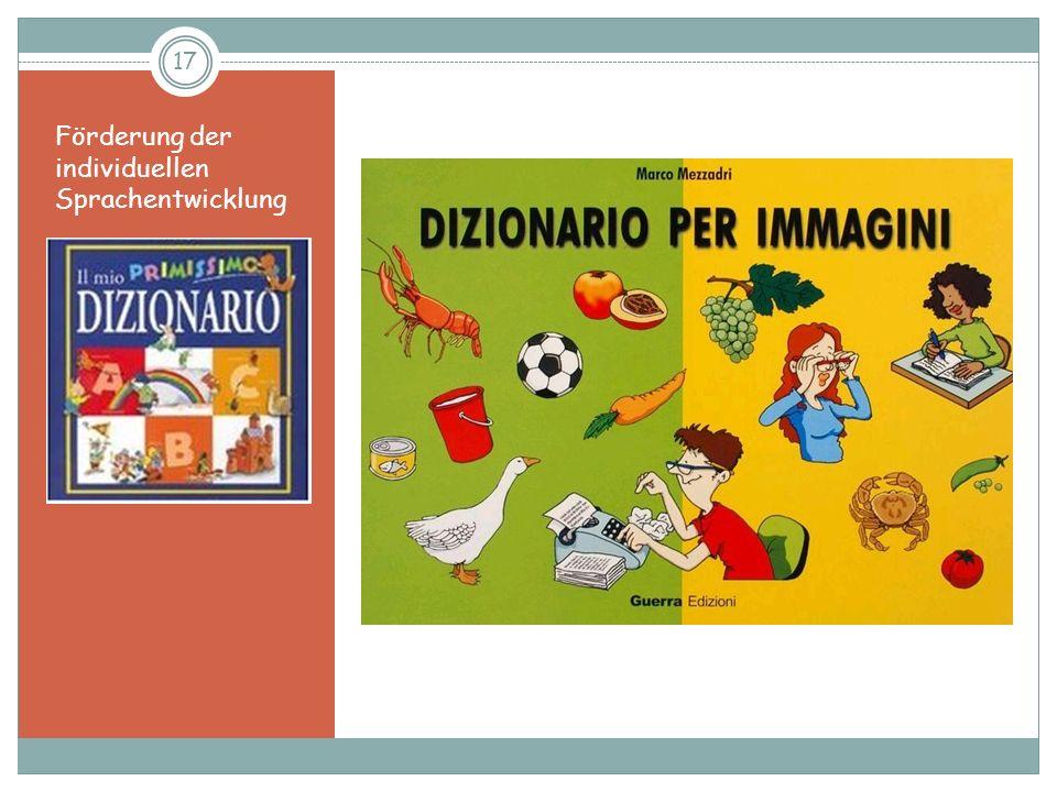 Förderung der individuellen Sprachentwicklung