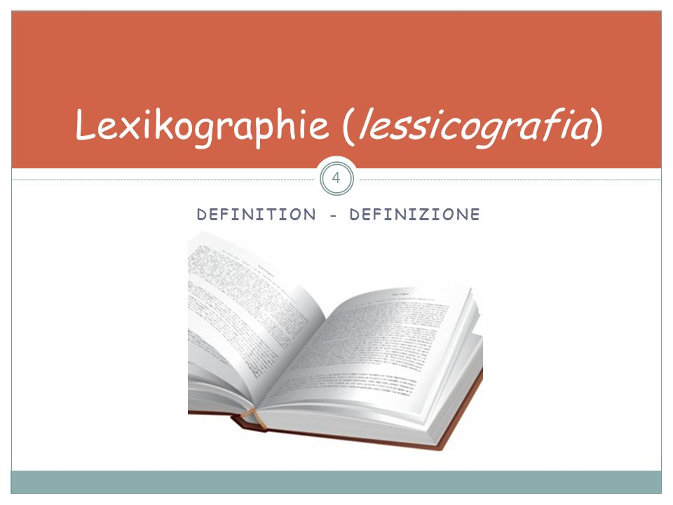Lexikographie (lessicografia)