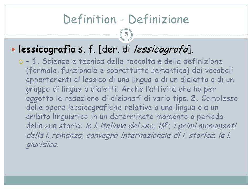 Definition - Definizione