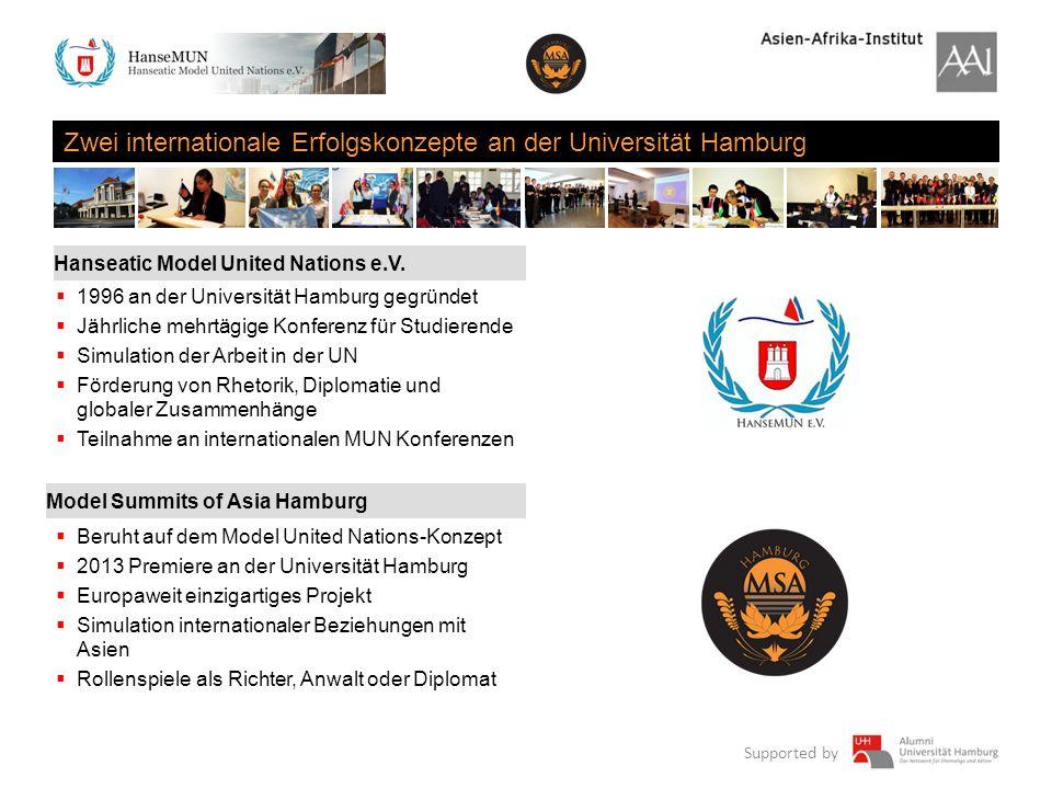 Zwei internationale Erfolgskonzepte an der Universität Hamburg