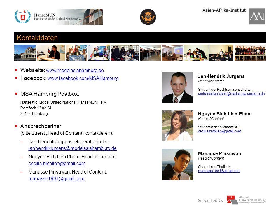 Kontaktdaten Webseite: www.modelasiahamburg.de