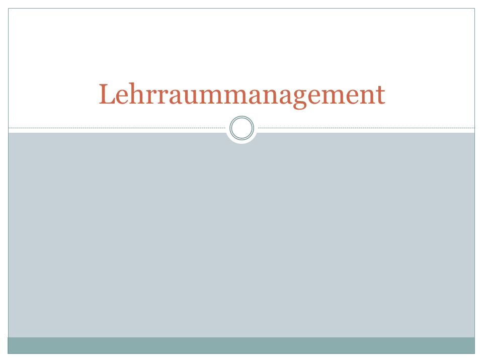 Lehrraummanagement