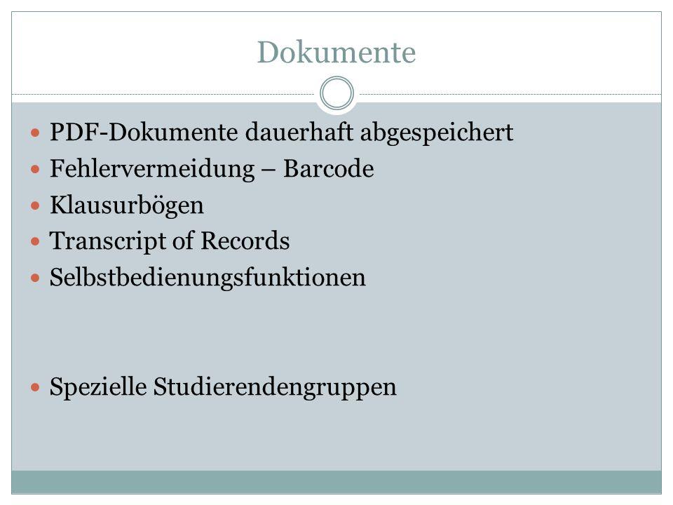 Dokumente PDF-Dokumente dauerhaft abgespeichert