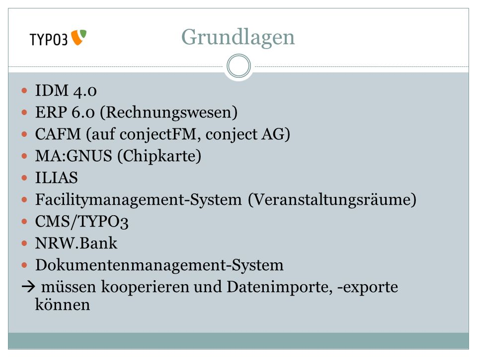 Grundlagen IDM 4.0 ERP 6.0 (Rechnungswesen)