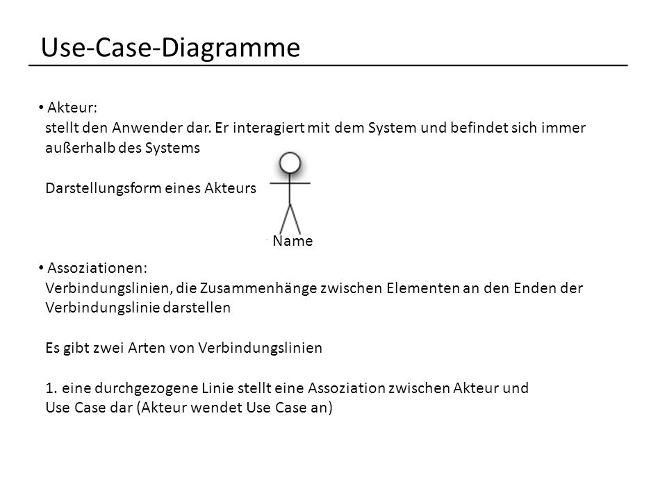 Use-Case-Diagramme Akteur: