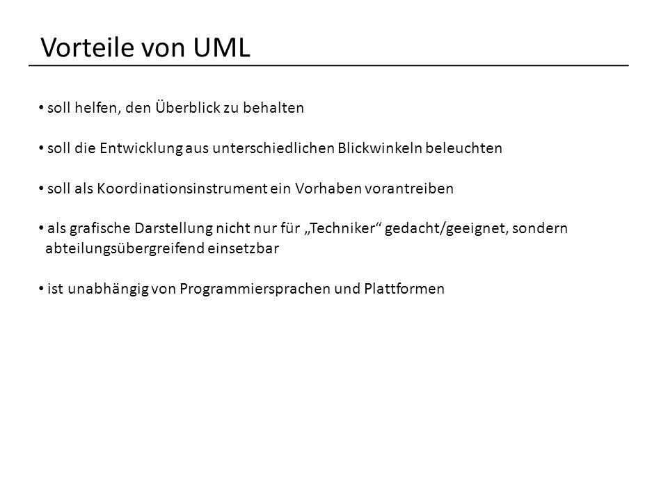 Vorteile von UML soll helfen, den Überblick zu behalten