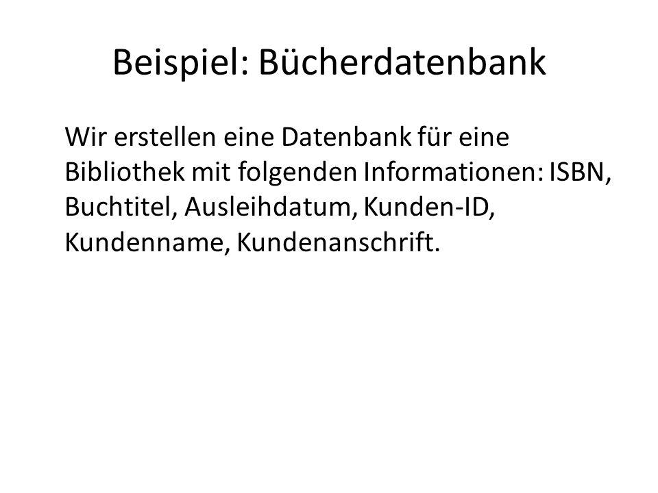 Beispiel: Bücherdatenbank