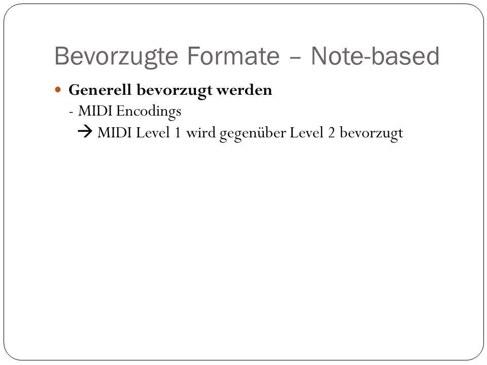 Bevorzugte Formate – Note-based