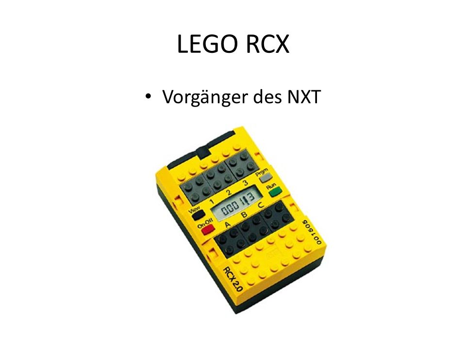 LEGO RCX Vorgänger des NXT