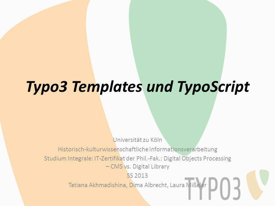 Typo3 Templates und TypoScript