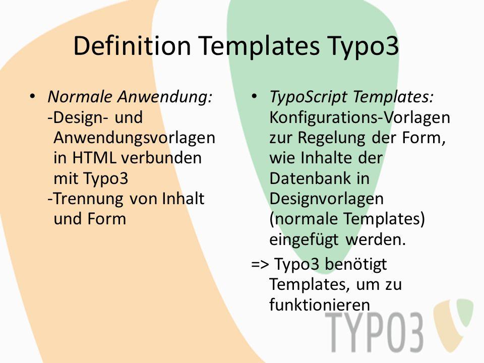 Definition Templates Typo3