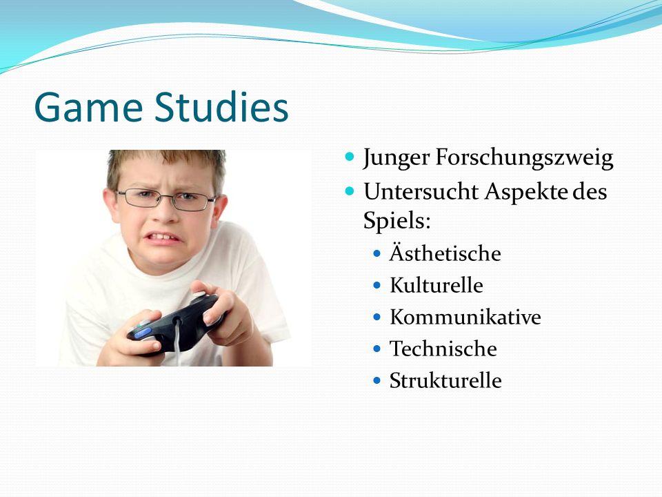 Game Studies Junger Forschungszweig Untersucht Aspekte des Spiels: