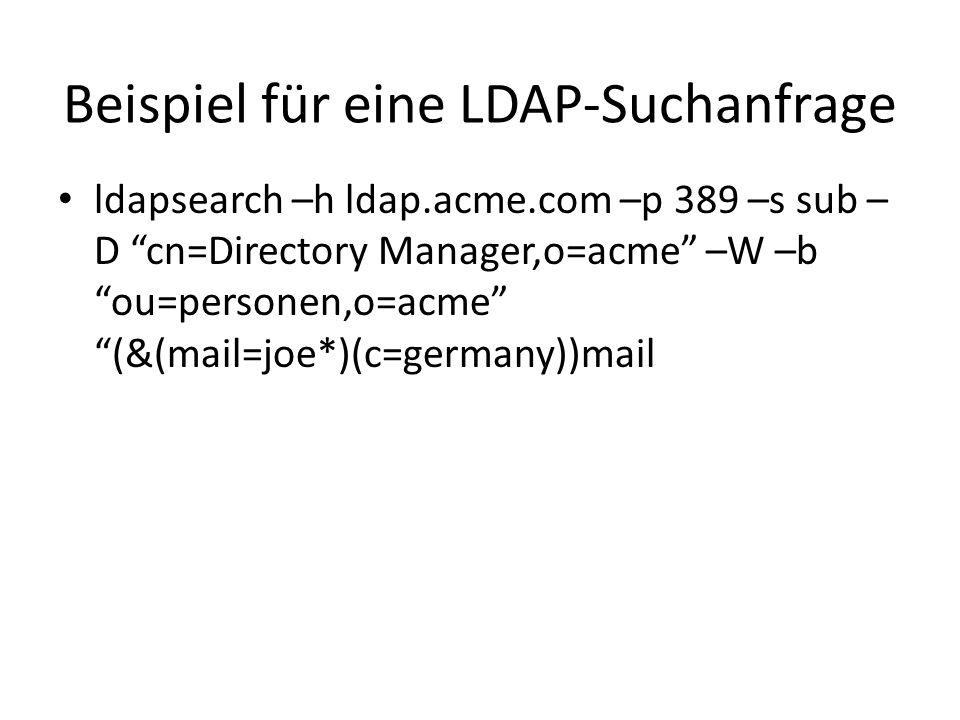 Beispiel für eine LDAP-Suchanfrage