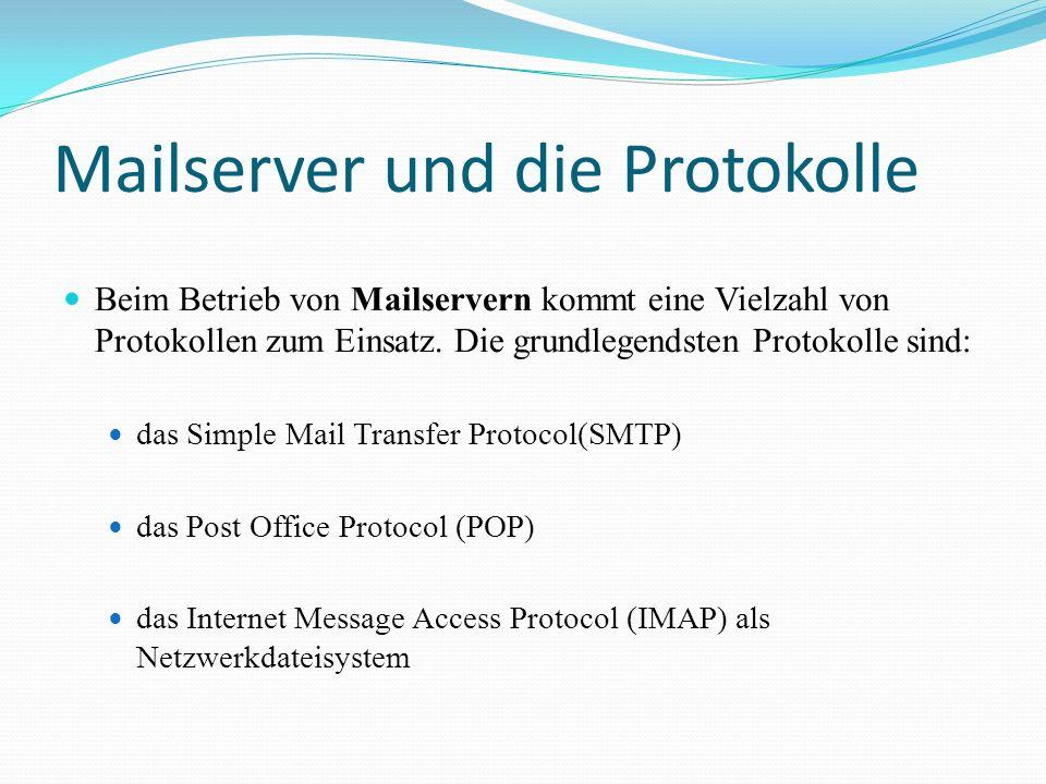 Mailserver und die Protokolle
