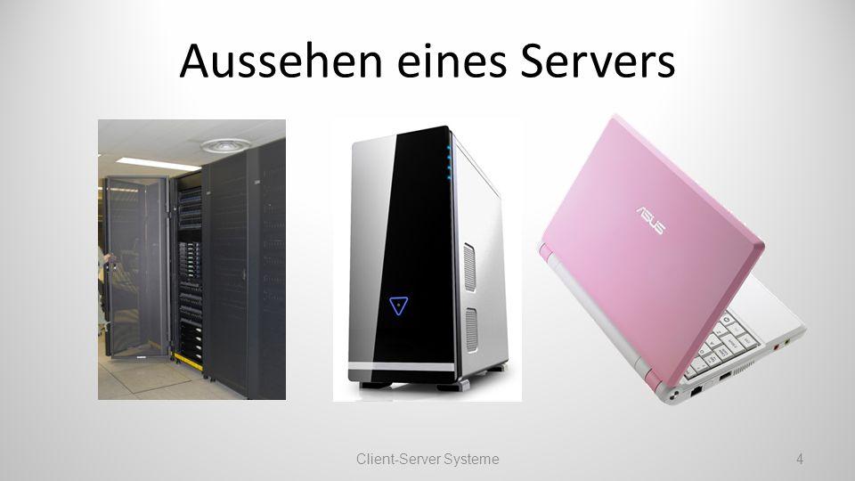 Aussehen eines Servers