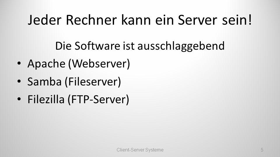 Jeder Rechner kann ein Server sein!