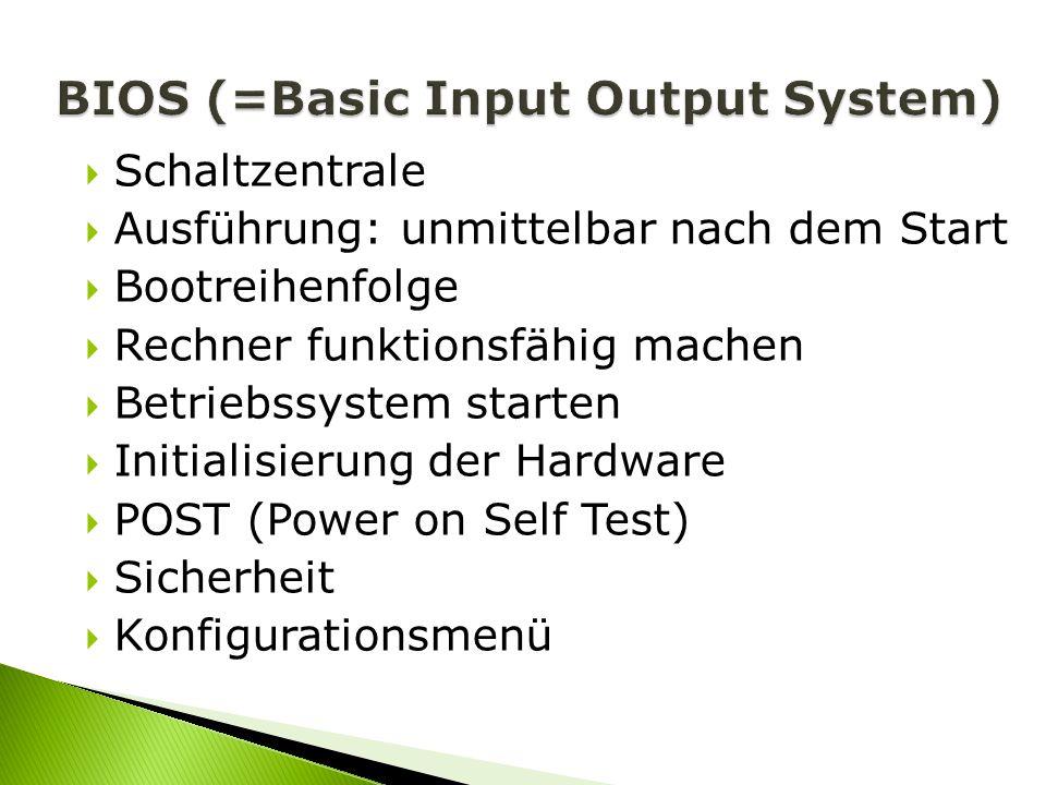 BIOS (=Basic Input Output System)