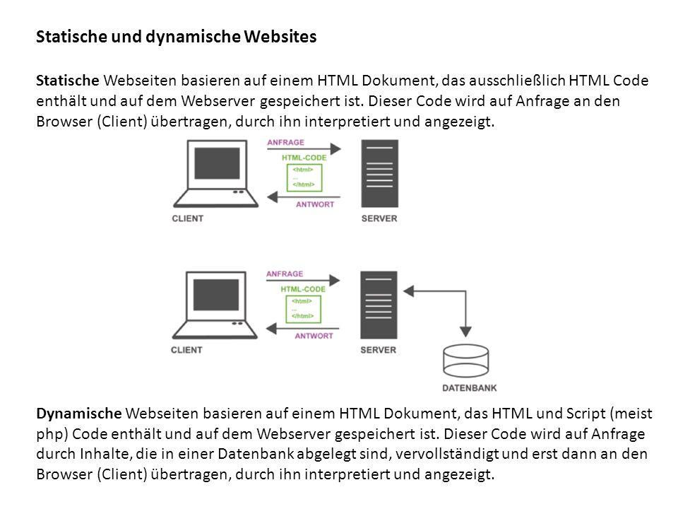 Statische und dynamische Websites