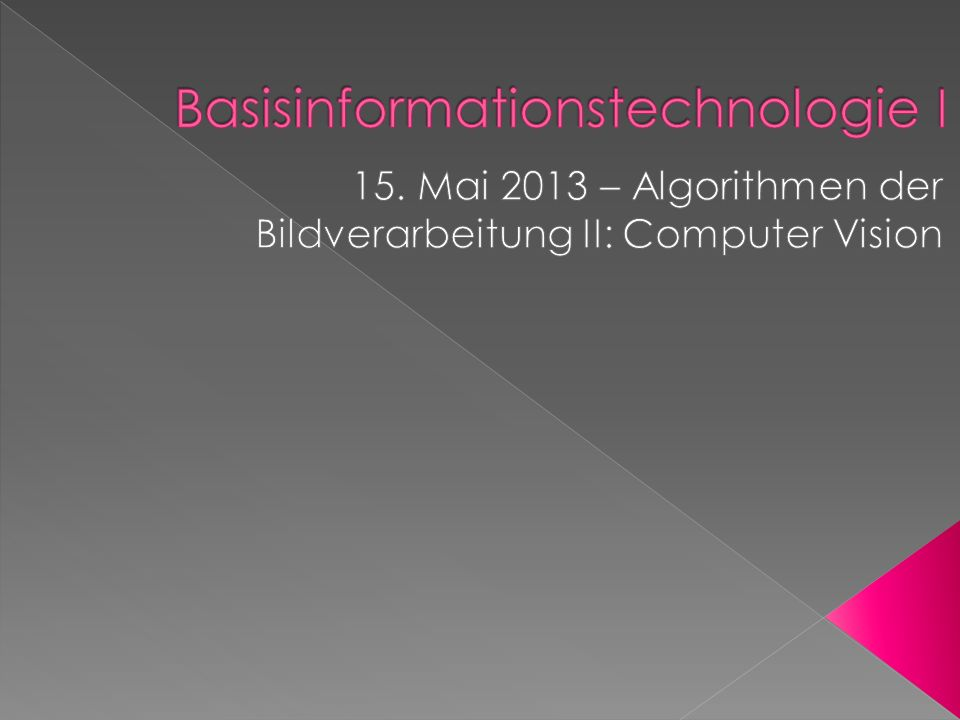 Basisinformationstechnologie I