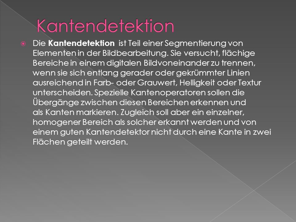 Kantendetektion