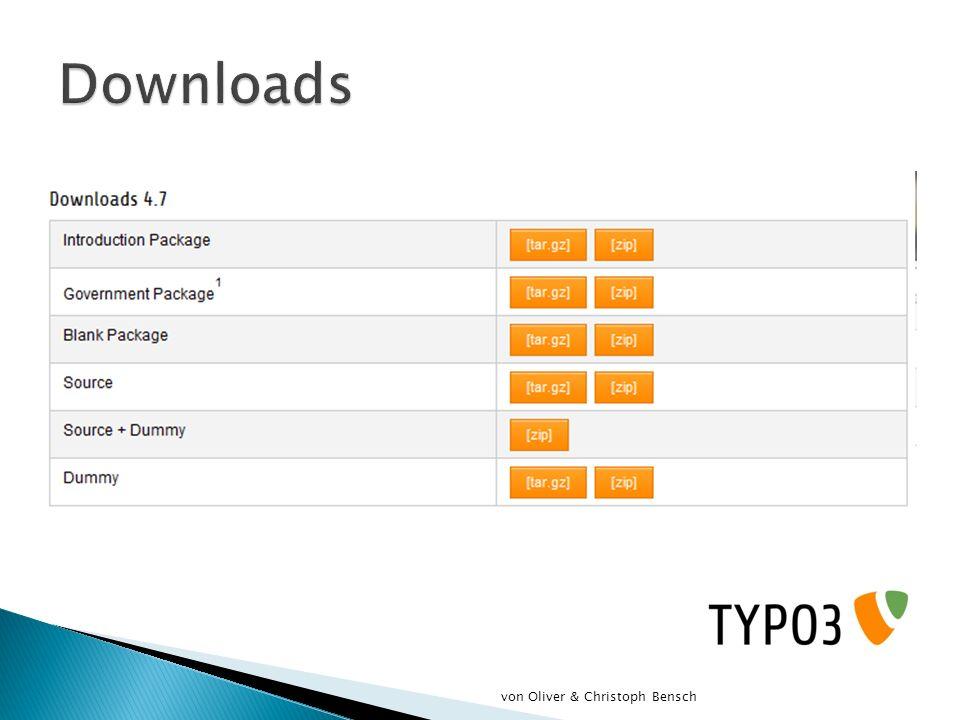 Downloads von Oliver & Christoph Bensch